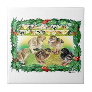Weihnachtsküken Keramikfliese