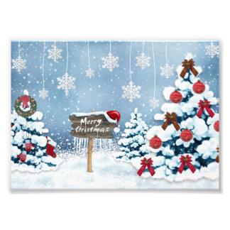 Weihnachtskunst - Weihnachtsillustrationen Fotodruck