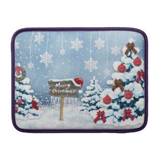 Weihnachtskunst - Weihnachtsillustrationen MacBook Sleeve
