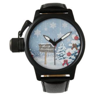 Weihnachtskunst - Weihnachtsillustrationen Uhr