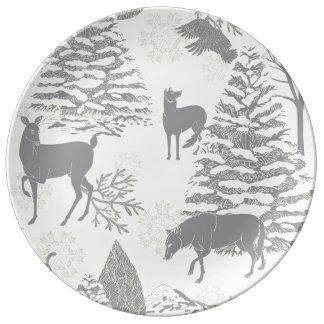 Weihnachtskünstlerische Porzellan-Platte Teller Aus Porzellan