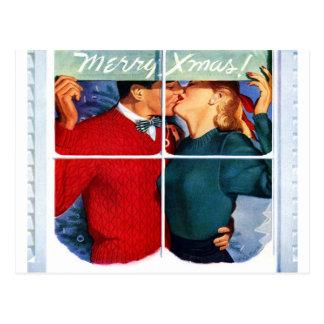 Weihnachtskuß Postkarte