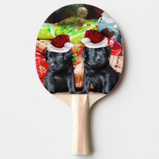 Weihnachtslabrador-Hunde Tischtennis Schläger