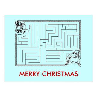 Weihnachtslabyrinth-Postkarte Postkarten
