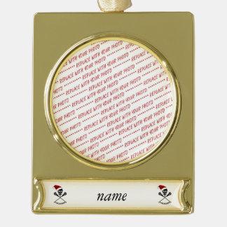 Weihnachtslacrosse-Stöcke Banner-Ornament Gold