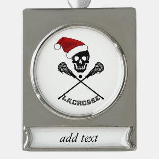 Weihnachtslacrosse-Stöcke Banner-Ornament Silber