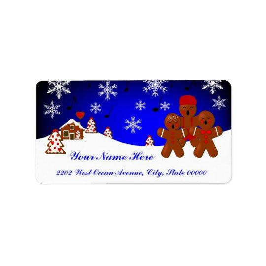 Weihnachtslebkuchen-Adressen-Etikett Adressaufkleber