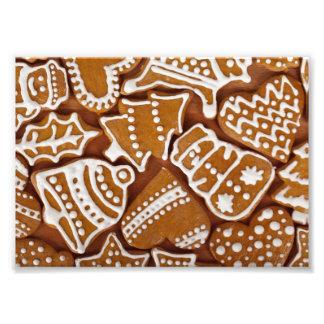 Weihnachtslebkuchen-Feiertags-Plätzchen Fotodruck