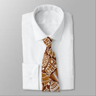 Weihnachtslebkuchen-Feiertags-Plätzchen Personalisierte Krawatte