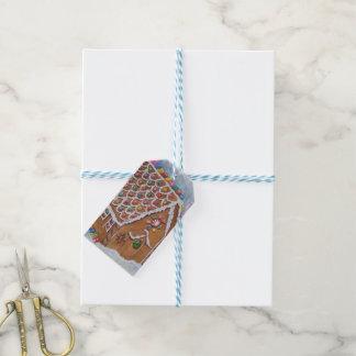 Weihnachtslebkuchen-Haus Geschenkanhänger