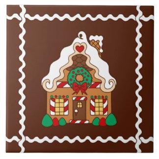 Weihnachtslebkuchen-Haus-Küche Trivet Geschenk Fliese