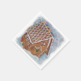 Weihnachtslebkuchen-Haus Papierserviette