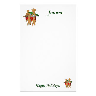 Weihnachtslebkuchen-Mann-Feiertags-Briefpapier Büropapier