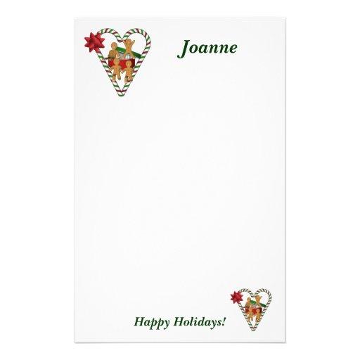 Weihnachtslebkuchen-Mann-Feiertags-Briefpapier Individuelles Büropapier