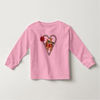 Weihnachtslebkuchen-Mann-Feiertags-Kleinkind-T - Kleinkinder T-shirt