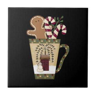 Weihnachtslebkuchen-Mann Keramikfliese