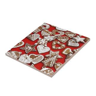 Weihnachtslebkuchen-Plätzchen Fliese