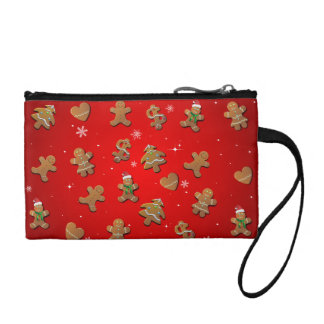Weihnachtslebkuchen-Plätzchen-Muster Münzbörse