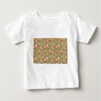 Weihnachtslebkuchen Sankt Baby T-shirt