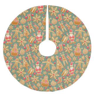 Weihnachtslebkuchensanktweihnachtsbaumrock Polyester Weihnachtsbaumdecke