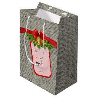 Weihnachtsleinwand Medium Geschenktüte