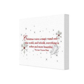 WeihnachtsLeinwand, Norman- Vincent Pealezitat Leinwanddruck