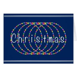 Weihnachtslicht-Entwurf auf Blau mit Silber Grußkarte
