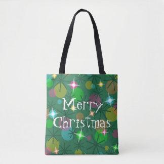 Weihnachtslicht-frohe Weihnachten ganz über Tasche
