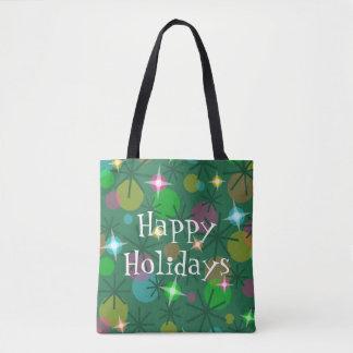 Weihnachtslicht-glückliche Feiertage ganz über Tasche