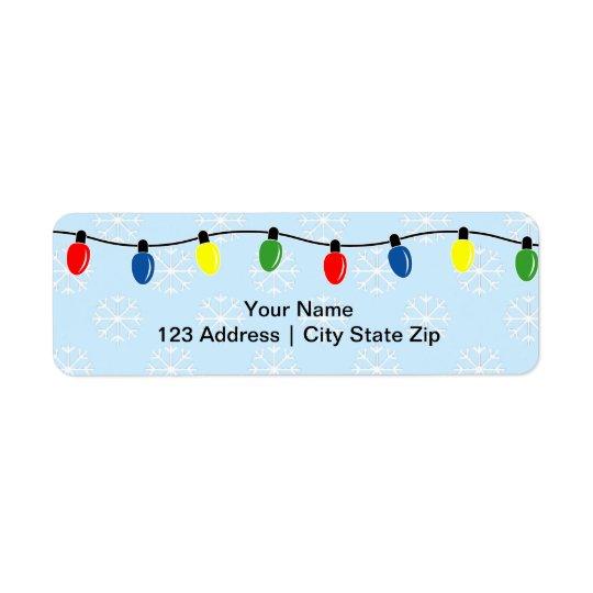 Weihnachtslicht-Rücksendeadressen-Aufkleber Rücksendeetikett
