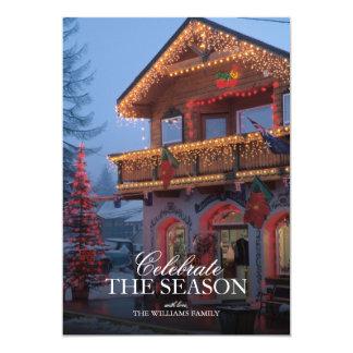 Weihnachtslichter, festliche, vordere Straße an 12,7 X 17,8 Cm Einladungskarte