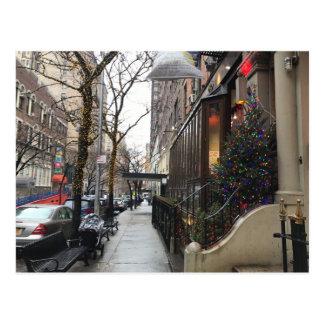 Weihnachtslichter, NYC Upper West Side Postkarte