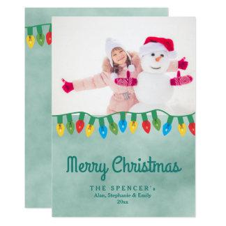 Weihnachtslichteraquamarines 12,7 X 17,8 Cm Einladungskarte