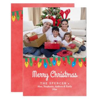 Weihnachtslichterrote 12,7 X 17,8 Cm Einladungskarte