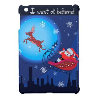 Weihnachtslustige Illustration. Sankt mit Rudolf iPad Mini Hülle