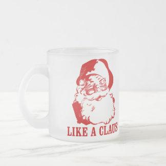 """Weihnachtslustige mattierte Tasse """"WIE eines"""