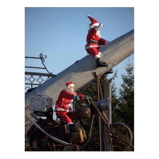 Weihnachtsmaenner Postkarte