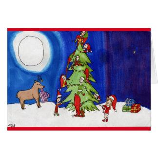 Weihnachtsmagie im Wald Karte