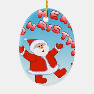 Weihnachtsmann 5 keramik ornament