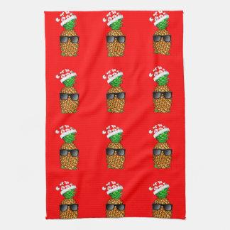 Weihnachtsmann-Ananas Geschirrtuch