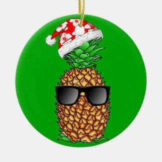 Weihnachtsmann-Ananas Keramik Ornament
