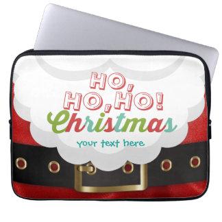 Weihnachtsmann-Anzugs-Ho Ho Ho Laptopschutzhülle