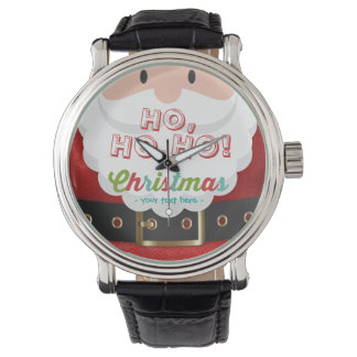 Weihnachtsmann-Anzugs-Ho Ho Ho Uhr