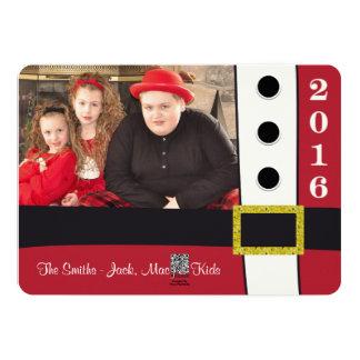 Weihnachtsmann-Anzugs-Weihnachtsfeiertags-Karte 12,7 X 17,8 Cm Einladungskarte