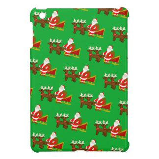 Weihnachtsmann auf dem WeihnachtsPferdeschlitten iPad Mini Hülle