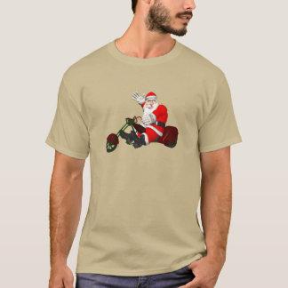 Weihnachtsmann auf Motor Trike T-Shirt