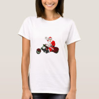 Weihnachtsmann auf Motor Trike