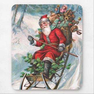 Weihnachtsmann auf Pferdeschlitten Mauspads