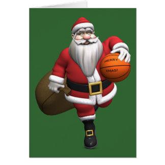 Weihnachtsmann-Basketball-Spieler Karte
