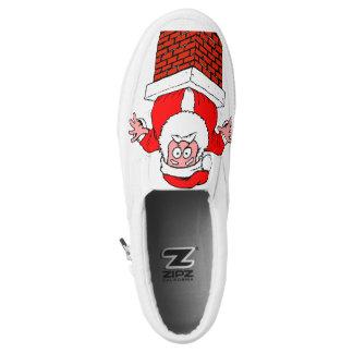 Weihnachtsmann 🎅 Beleg-auf Schuhen Slip-On Sneaker